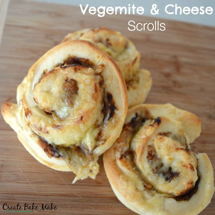 I decided to turn to my favourite no yeast scroll recipe, and since we had no inspiring ingredients in the fridge, I made do with the classic combination of Vegemite and cheese. The Vegemite and Cheese Scrolls honestly took less than 20 minutes to put together and were well on their way to be cooked by the time my friend arrived.