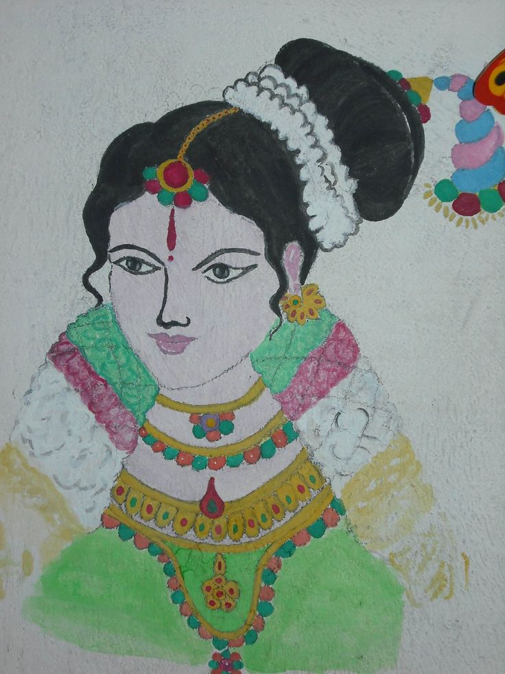 Sri Aandaal.  My Poster Color On Wall.