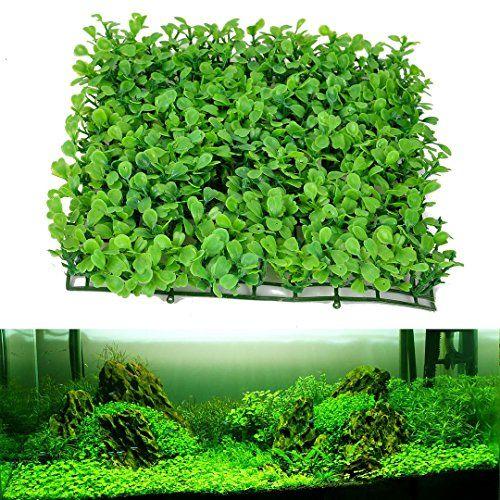 Green Grass Plastic Fish Tank Ornament Plant Aquarium Lawn Landscape Decoration Set23