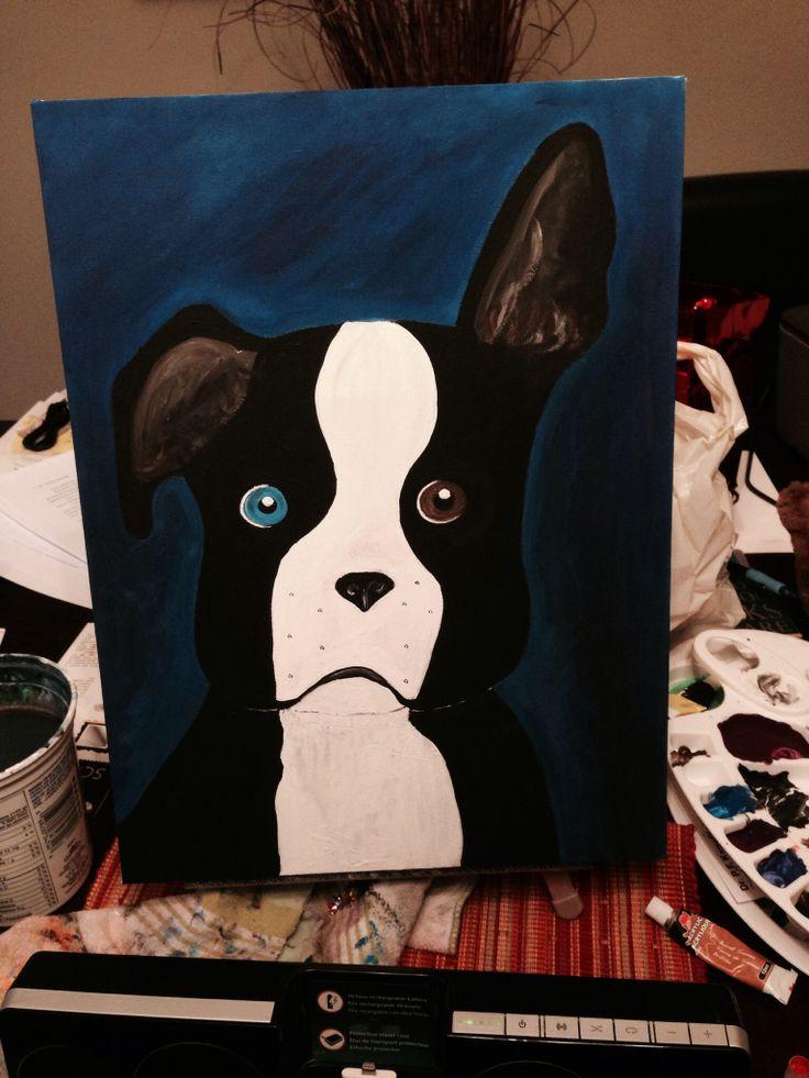 Boston terrier art 2014
