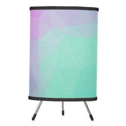 LoveGeo Abstract Geometric Design - Flower Lake Tripod Lamp - trendy gifts cool gift ideas customize