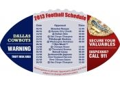 4x7 in One Team Dallas Cowboys Football Schedule