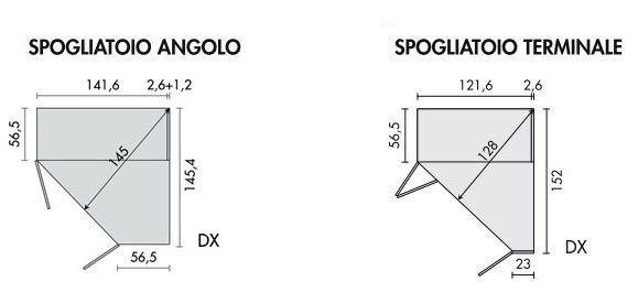 Dimensioni Armadio Ad Angolo.Dimensioni Modulo Spogliatoio Armadi Napol Armadio Spogliatoio