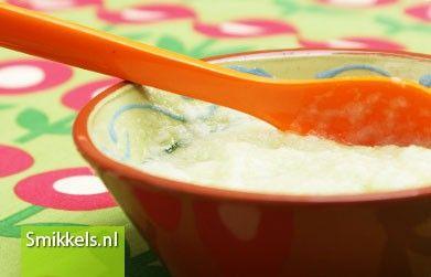 Maak zelf je babyvoeding! Kijk op Smikkels.nl voor het recept van Meloen met liga | fruithapje | Babyvoeding | Smikkels.nl