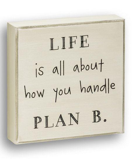 'Handle Plan B' Wall Sign