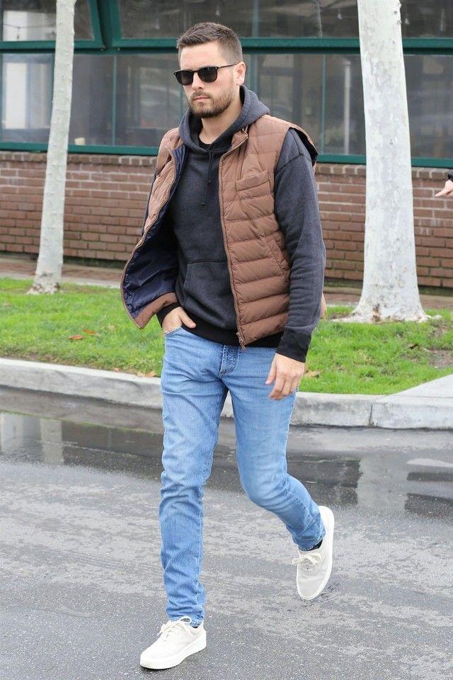 26286091b4f68 Scott Disick wearing Fear of God Grey Suede Sneakers