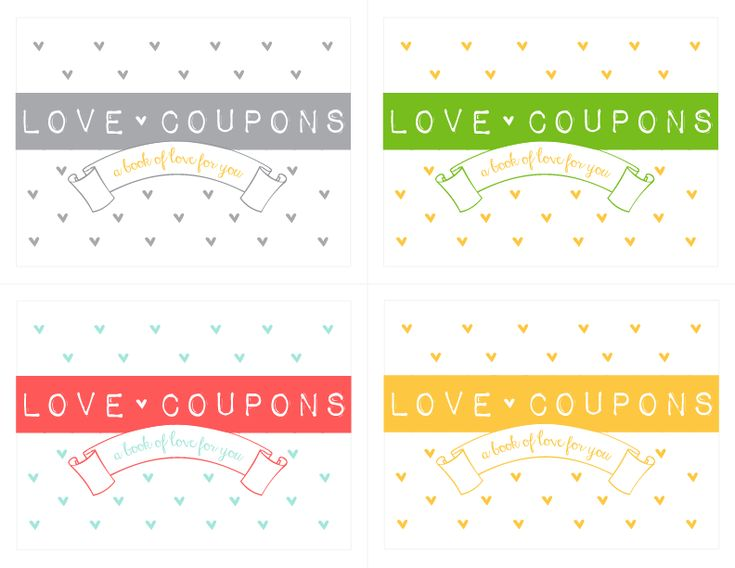 free Love Coupon download to make the cutest Love coupon book ever! #valentines