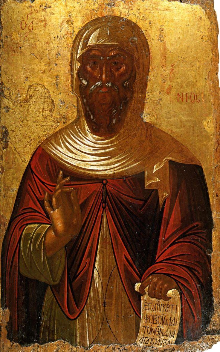 икона преподобного Антония Великого, Греция, 16 век.
