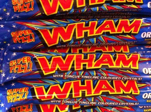 Wham Bars Original x 20 Raspberry flavoured tongue tingling chews with little fizzy bits embedded in the chew bar http://www.comparestoreprices.co.uk/december-2016-5/wham-bars-original-x-20.asp