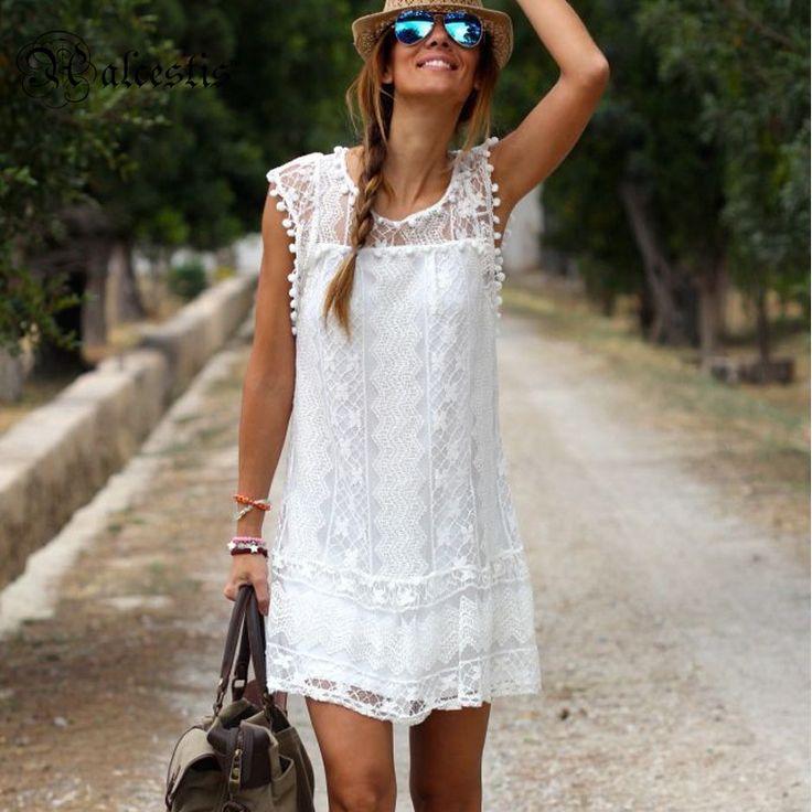 Yaz Elbise 2016 Hanım Rahat Plaj Kısa Elbise Püskül Siyah Beyaz Mini Dantel Elbise Seksi Parti Elbiseler Vestidos artı boyutu - http://www.geceelbisesi.com/products/yaz-elbise-2016-hanim-rahat-plaj-kisa-elbise-puskul-siyah-beyaz-mini-dantel-elbise-seksi-parti-elbiseler-vestidos-arti-boyutu/