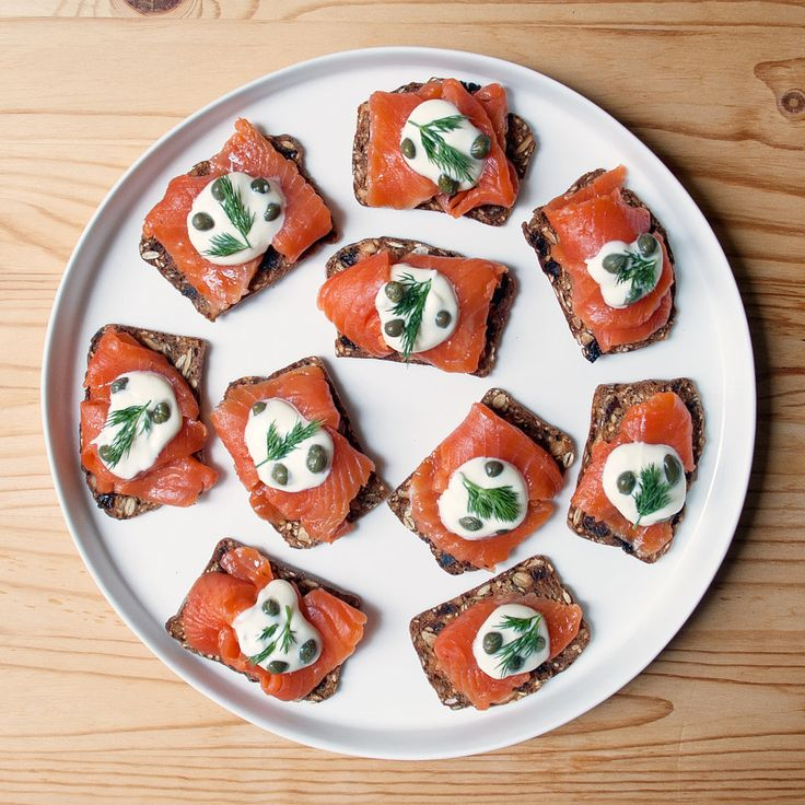 More an assembly job than a recipe, these gravlax and crème fraiche toasts scream New Year's Eve party.