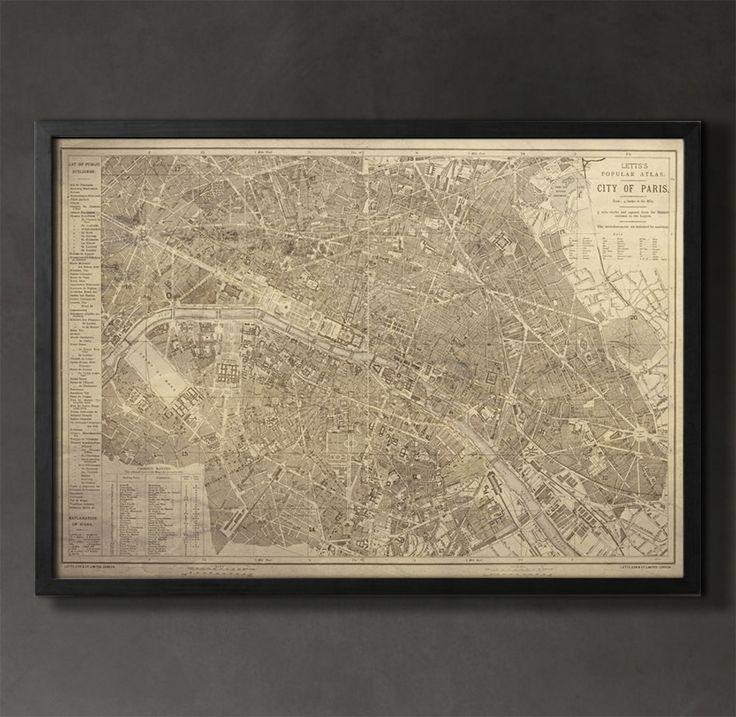 Map Print PARIS 37 best City Map
