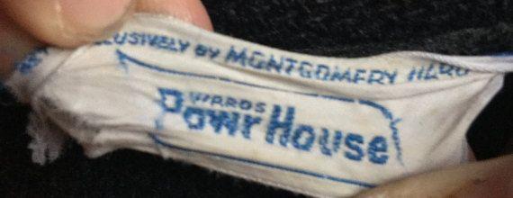 Montgomery Ward Powr House cappotto in lana nera di MidNorthMerc