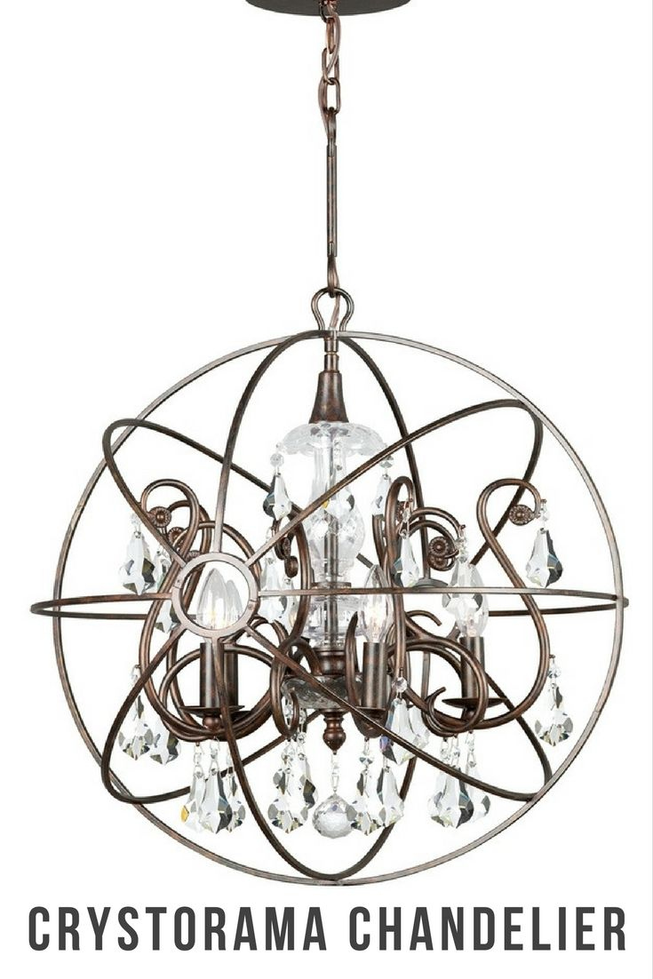 61 best crystal chandelier lighting images on pinterest shop for the crystorama lighting group english bronze solaris 5 light wide wrought iron globe chandelier with clear hand cut crystal and save arubaitofo Images