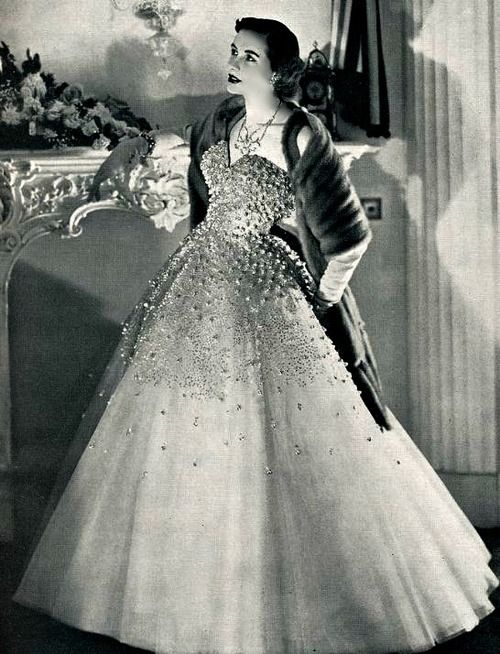 A Dior Evening Gown, 1950's