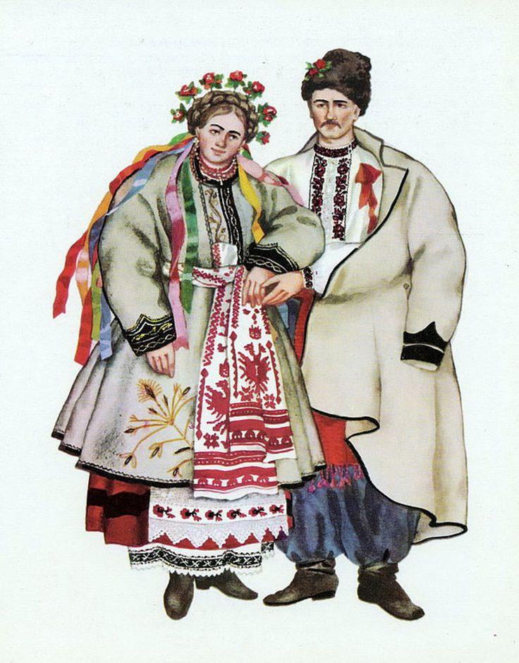 национальный костюм украинцев рисунок