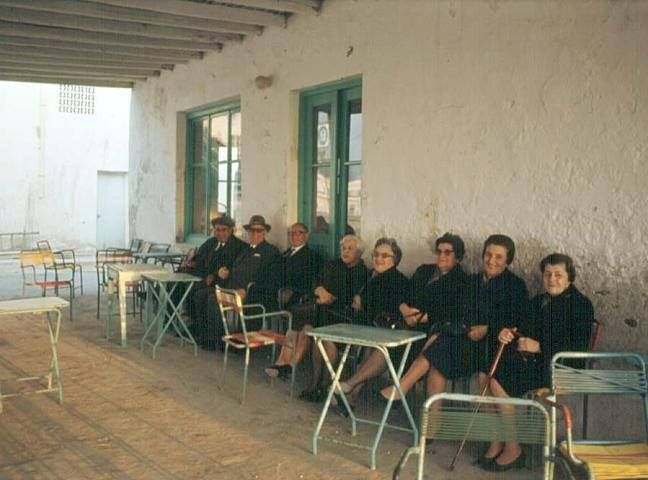 Seeing women at the Kafenio along with their husbands wasn't, and still isn't very common. Here is a shot of all of them together. #Paros #Greece #Beautiful #Old #Vintage #Vacation #Summer #Culture