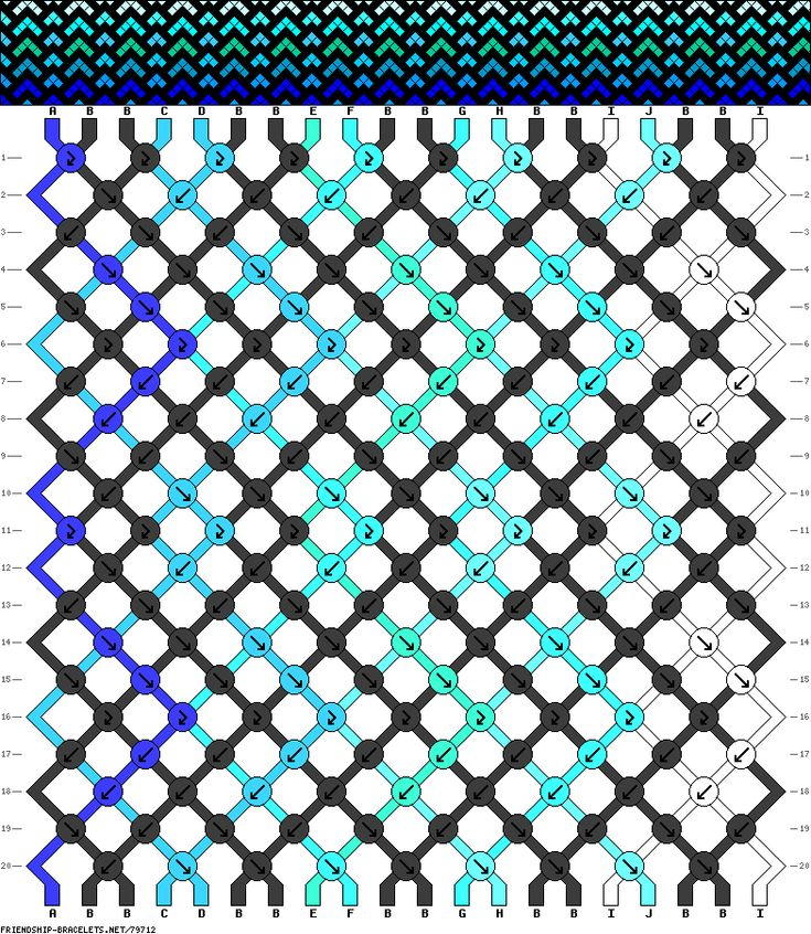 Ombre Chevron Friendship Bracelet pattern