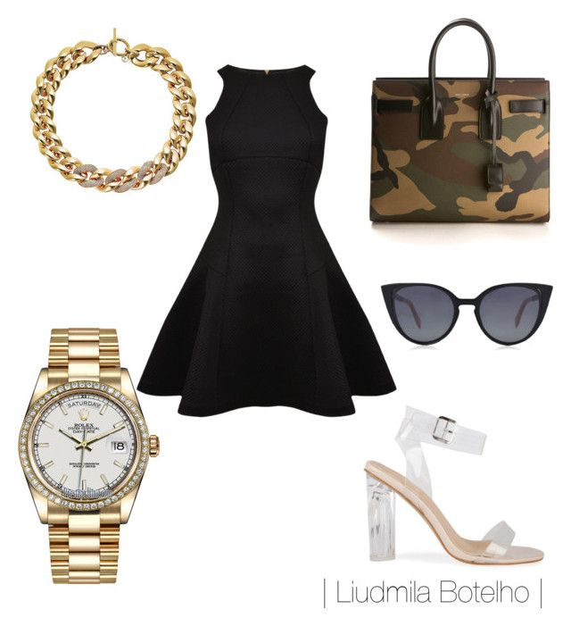 Untitled #51 by liudmila-botelho on Polyvore featuring polyvore fashion style Ted Baker Yves Saint Laurent Rolex Michael Kors Fendi clothing