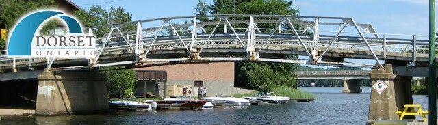 The humped-backed bridge in Dorset, Ontario.