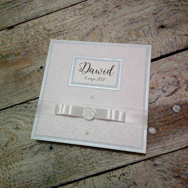 kartka handmade chrzest święty, scrapbooking card