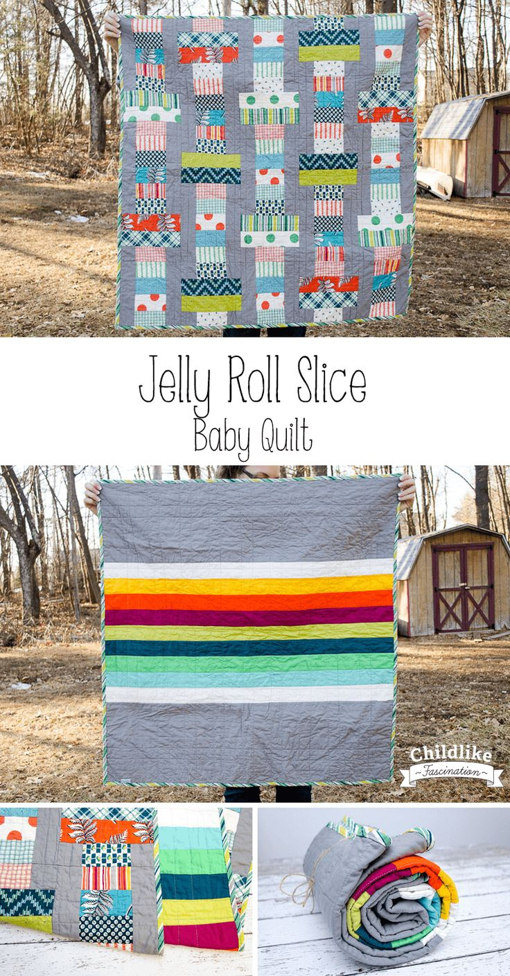 A Jelly Roll Slice Quilt for a Baby Boy! - Childlike Fascination