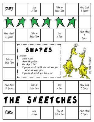 Dr. Suess Game that reinforces geometry...perfect!  There are also several other Dr. Suess board games available on this site