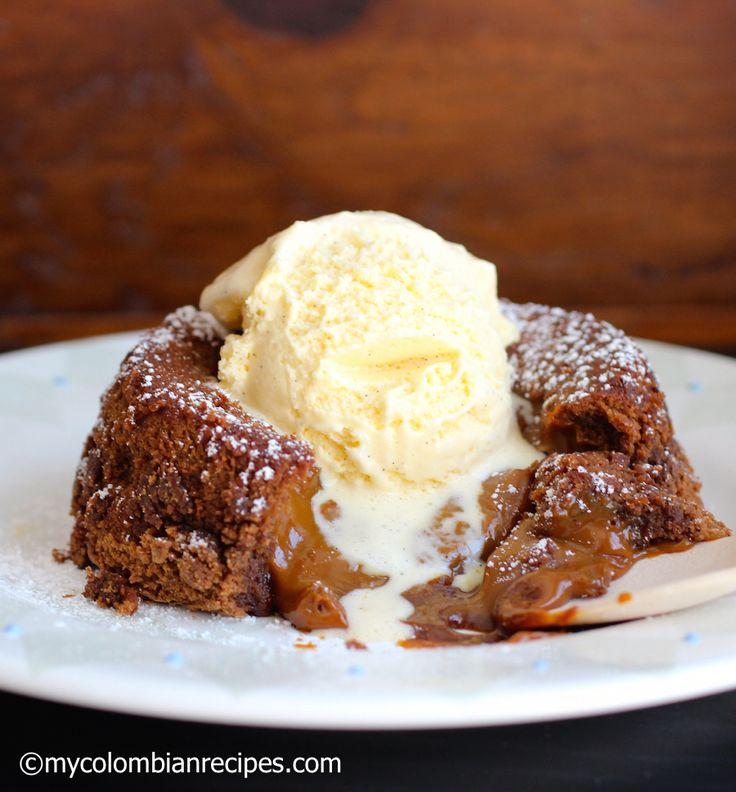 Chocolate-Dulce de Leche Lava Cake |mycolombianrecipes.com
