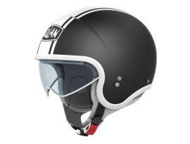 Nolan N-21 Caribe Flat Black/White Helmet