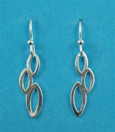 £14.00 incl tax  Sterling silver oval link drop earrings.  Approx 2.8cm long.