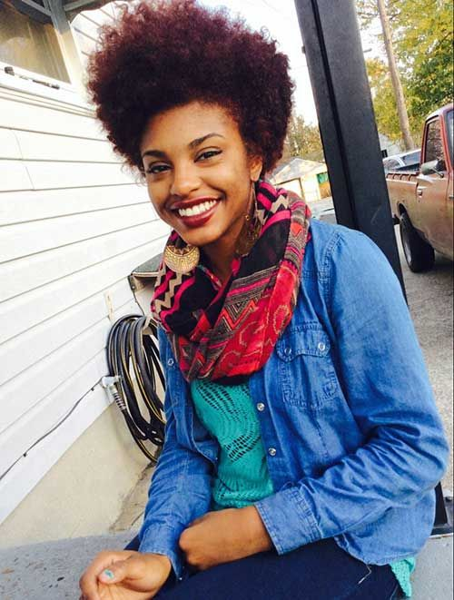 25 Short Curly Afro Hairstyles   http://www.short-haircut.com/25-short-curly-afro-hairstyles.html