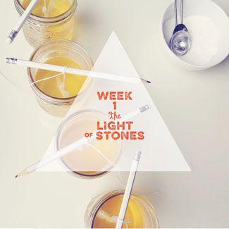 Tiny Advent | Week 1  http://tinypeasant.com/2014/11/advent-week-1-light-of-stones/
