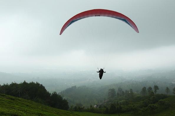 Paralayang at Puncak Bogor, West Java, Indonesia