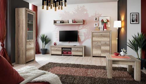 Obývacia izba - ASM - Century 3  Izba obsahuje: 1x Vitrína 1x TV stolík/skrinka 1x Polička 1x Barová skrinka 1x Konferenčný stolík