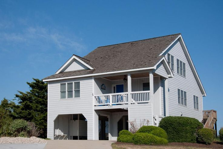 R57: Oates Bluff   Nags Head Rentals   Village Realty. Outer Banks NC. This dog-friendly Outer Banks vacation home in The Village at Nags Head offers four bedrooms, a whirlpool tub, rec room with pool table, sun deck, WIFI, TVs, DVD players, stereo with CD, fireplace, grill, outside shower, and parking for 3-4 vehicles.   Non-Smoking. Pet Friendly - Dogs Only.