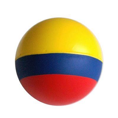 BOLA ANTIESTRÉS TRICOLOR REF:DIV-459   Poliuretano.  Tipo de Producto: IMPORTADO.  Medidas: 7 cm diámetro.  Área de Marca: Máximo 4.5 cm de ancho.  Técnica de Marca: Tampografía.  Colores Disponibles: Tricolor/Bandera de Colombia.