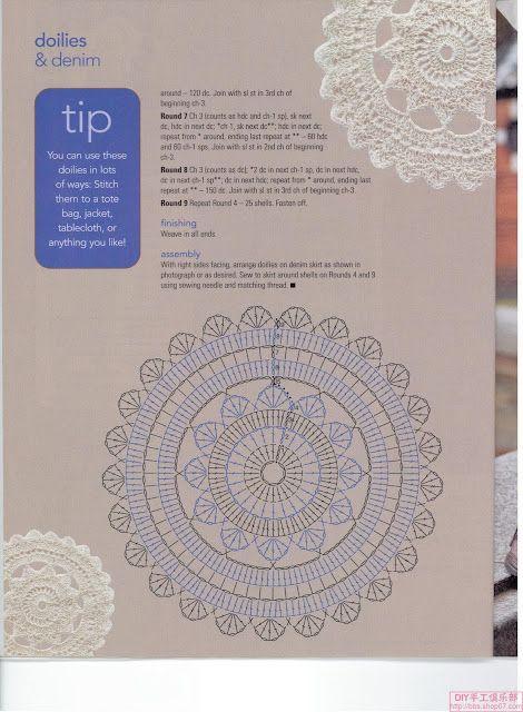 Ganchillo Crochet Diagrama Patron Esquema like this so much...