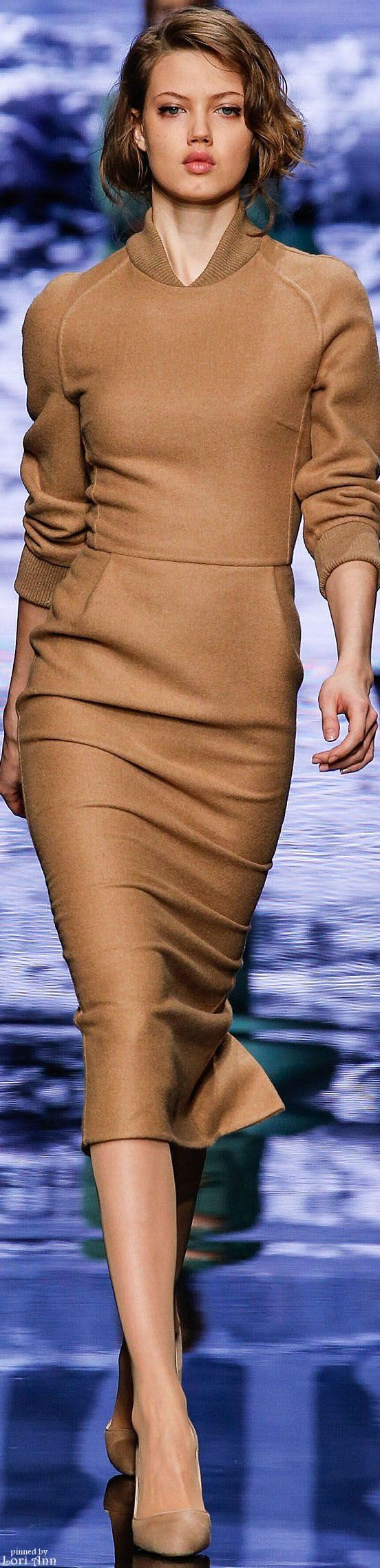 Max Mara ~ Fall Knit Midi, Camel 2015. Love the color!