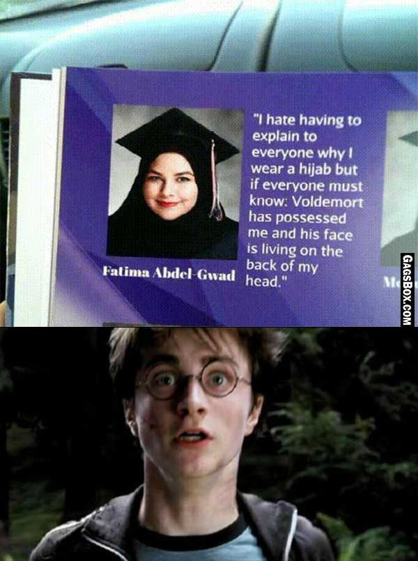 Muslim Girl Possessed By Lord Voldemort #funny #jokes