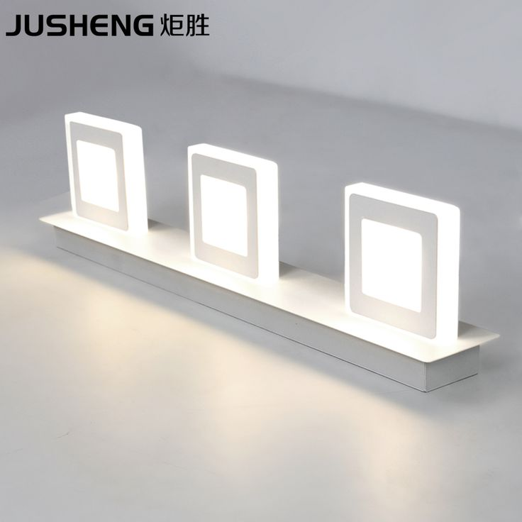 Indoor 9W Led Wall Lamps For Bathroom Wall Lighting Led LED Mirror Lights 48cm AC220V/110V Home Deco Acrylic Sconces Lamps