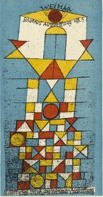 """By Paul Klee (1879-1940), 1923, The Sublime Side postcard for """"Bauhaus Exhibition Weimar 1923"""" (Die erhabene Seite Postkarte zur """"Bauhaus-Ausstellung Weimar 1923"""")."""