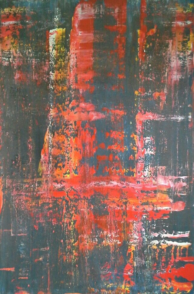 Abstract art by Canadian artist Robert Martin Abstracts. Fade 40x60x1.5in Bali collection #5 Acrylic on canvas. Year 2017