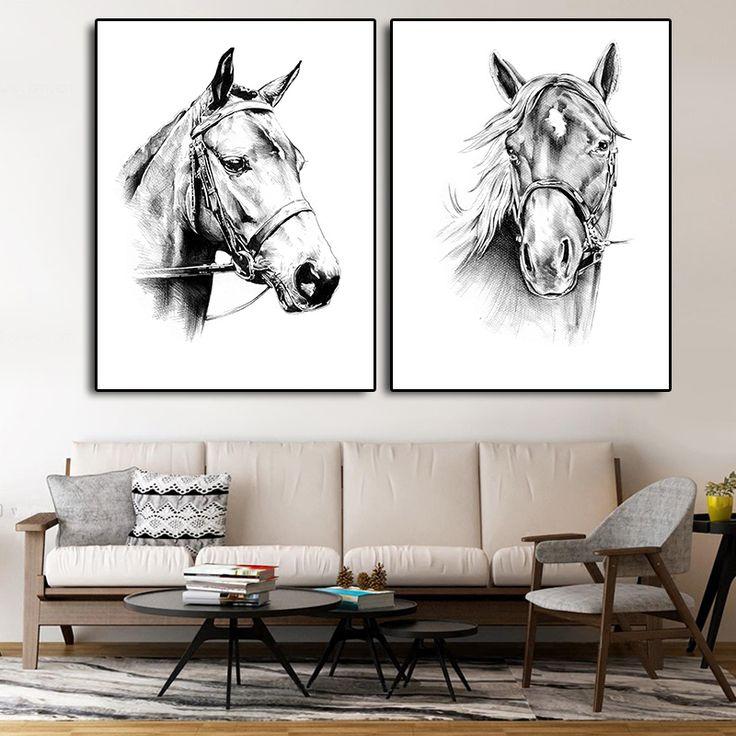 Horse Head Drawing Print