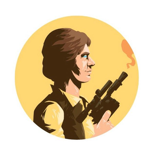 Han Solo Created by Florey