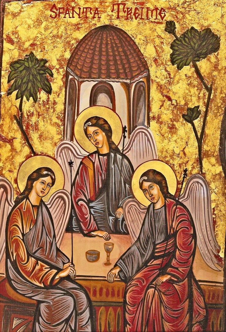 The Holy Trinity, Unknown Artist,  Romanian (Contemporary)
