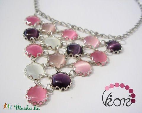 Róza üveg nyaklánc (viori) - Meska.hu