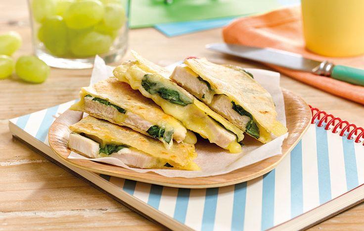 Chicken, Spinach & Cheese Quesidillas - Bega Cheese