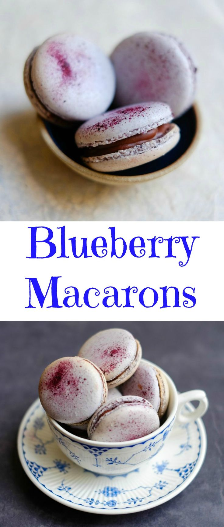 Blueberry Macarons for Blue Monday - Patisserie Makes Perfect