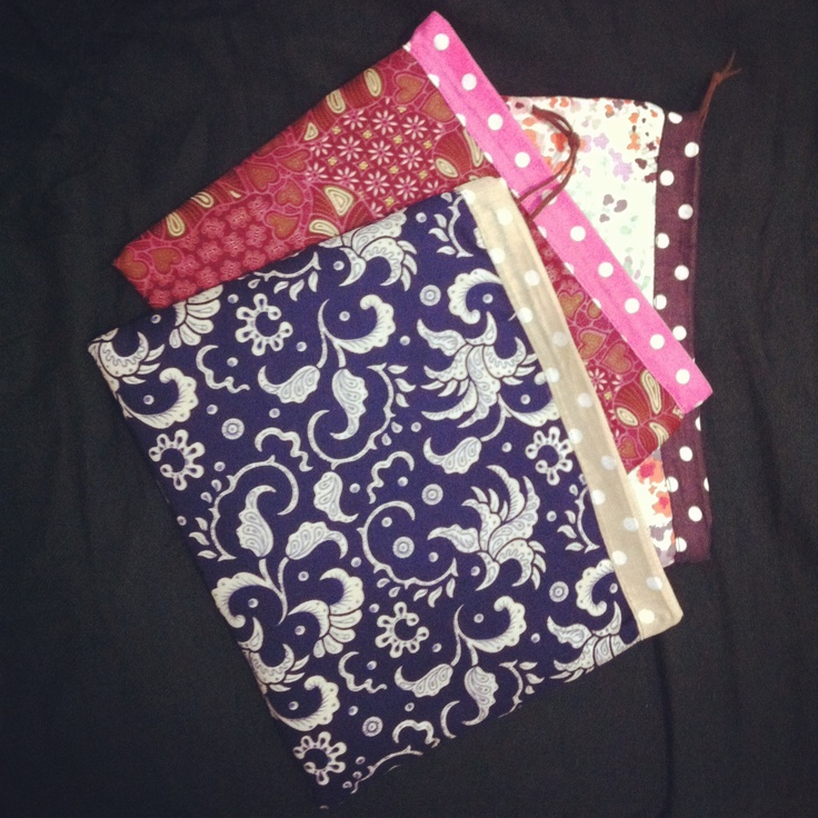 My first collections of Batik handmade 'Lunch to go' pouches By Zenia