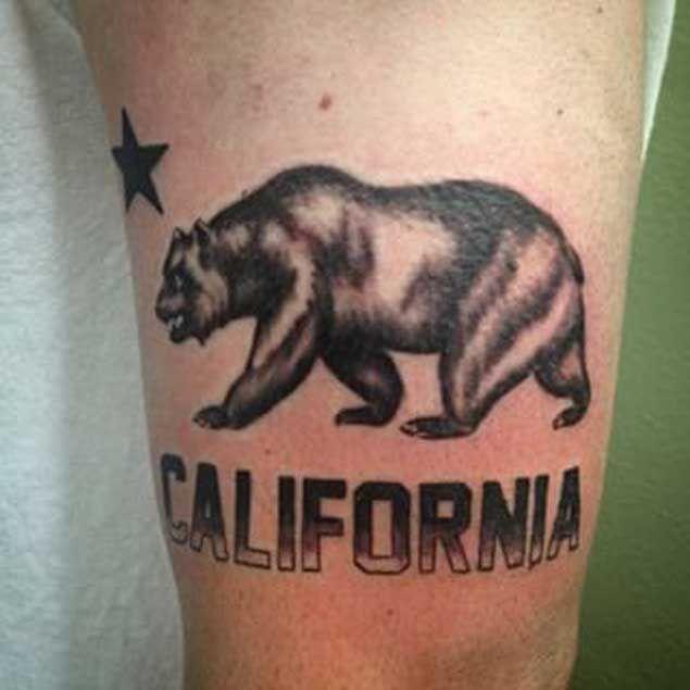 California tattoo bear tattoo california bear tattoo